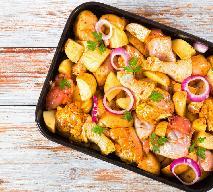 Nóżki kurczaka z ziemniakami pieczone po wiejsku