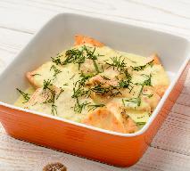 Przepis na zapiekankę z łososiem - dieta uzupełniająca niedobór kwasów Omega-3