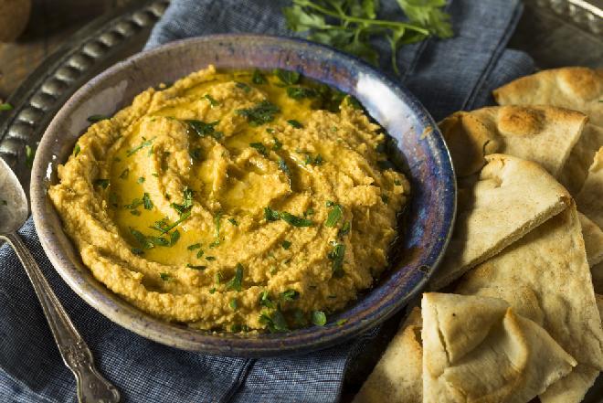 Hummus z dyni z natką pietruszki