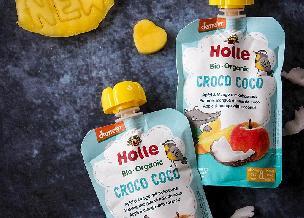 BIO nowość Holle – CROCO COCO – mus owocowy z kokosem dla dzieci od 8. miesiąca życia